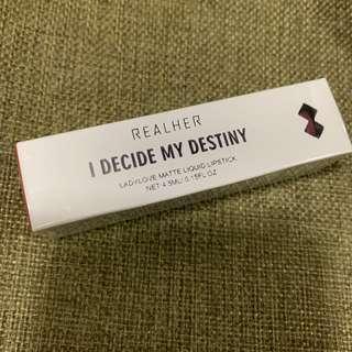 大減價 美國加州 RealHer 霧面啞緻唇釉 ladylove matte liquid lipstick lip 4.5ml REAL HER i decide my destiny 化妝品 唇彩