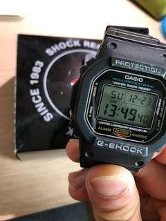 Casio 手錶 G shock 黑色 方形錶版 跟證書😬👍