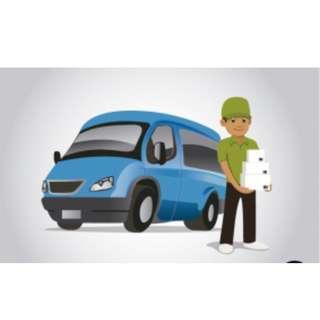 Pick up and delivery services by Van (Van Sewa/Pindah/Hantar Barang)