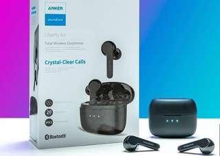 美國品牌 ANKER SOUNDCORE LIBERTY AIR 真無線藍牙耳機 (藍牙5.0、雙耳通話、IPX5防水、石墨烯單元)