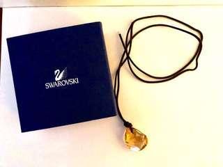 Swarovski 水晶 頸鏈-咖啡色