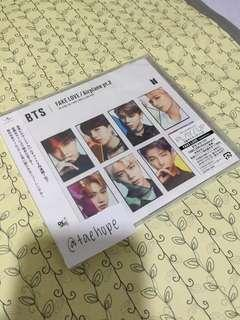 WTS BTS JAPANESE ALBUM FAKE LOVE