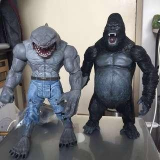 Dc multiverse cnc Kong shark & custom grodd