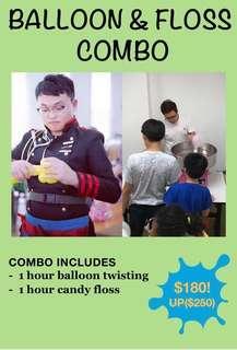 Balloon and floss combo
