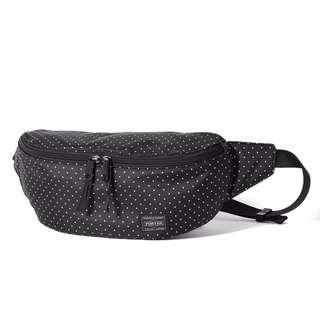 a8e9792b5949 Head Porter Japan Black Beauty White Dot Waist Bag