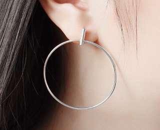 Silverworks Stud-Like Hoop Earrings