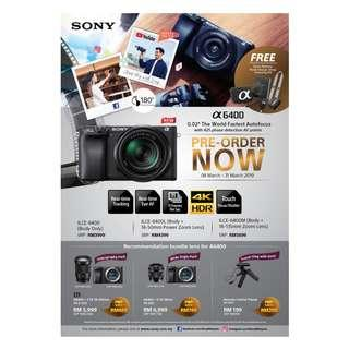 Sony a6400 Mirror Less Camera. Latest Model.......Stock Available 1 April 2019
