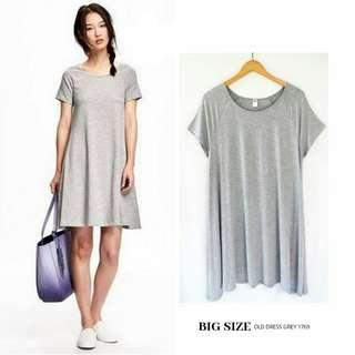 NEW ! Dress OLD NAVY GREY Bigsize Jumbo Plussize