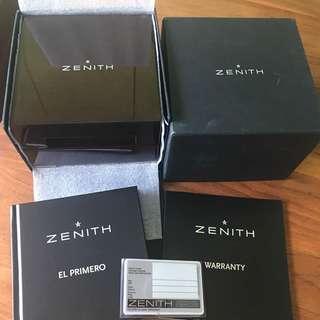 Zenith El-Primero Box and Books