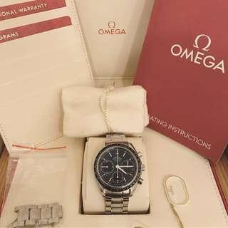 Omega Speedmaster Co-axial {Full Set}  - Racing Blue Dial