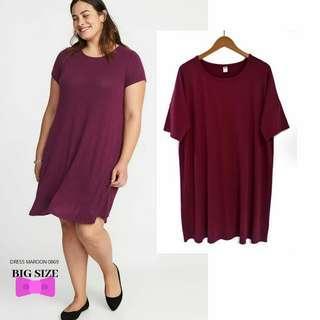 NEW ! Dress OLD NAVY MAROON Bigsize Jumbo Plussize