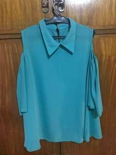 Bakuna blouse with collar(mint green)