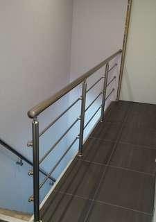Railling tangga dan kanopi stainless