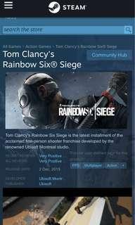 rainbow six siege standard edition steamdb