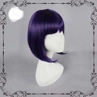 Dark Purple Short Wig(bob cut)