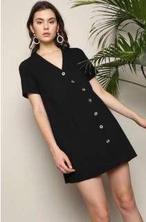 🚚 Hollyhoque Siri Linen Shift Dress (Black)