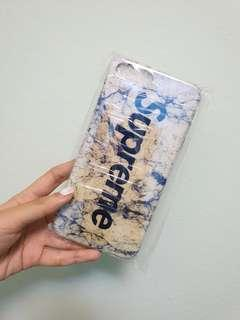 White supreme marble iphone 7/8 plus case