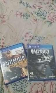 Kaset PS4 battlefield dan call of duty