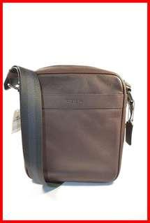 ORIGINAL Coach Smooth Leather Mahogany Men`s Flight Bag Sling Bag Brand New and Complete Inclusion Free Shipping and Express Shipping Nationwide