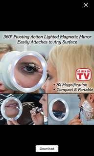 Swivel Brite Mirror LED / kaca pembesar make up