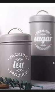 Coffee, tea, sugar Canister.