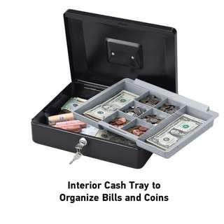 🔥[PROMO SALE!]🔥 SentrySafe Cash Box with Money Tray, Portable Heavy Duty Large Size for Events Cash Collection [33% DISC]