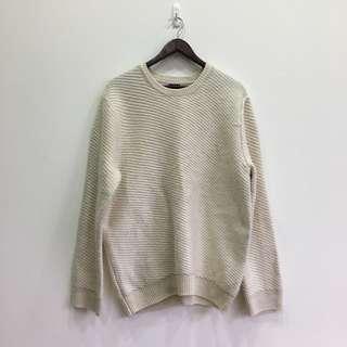 🚚 [ H&M ] 長版白色毛衣 小脫線便宜賣🥛