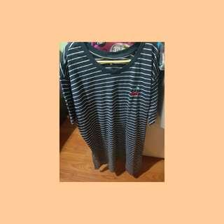 🚚 Cotton On Cherry striped navy top