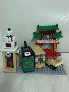 7-11 小丸子限量版交通工具及地標lego