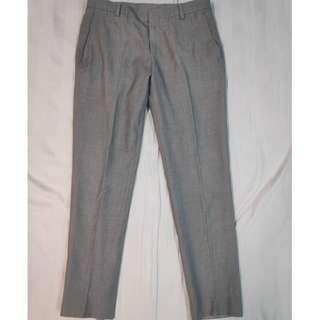 "Custom Tailored Made Formal Work Pants Black Grey - W 33"""