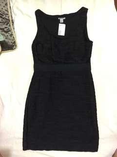 H&M黑色連身洋裝