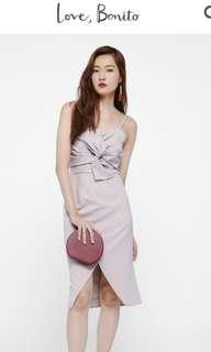 Love bonito Axora Twist Front Midi Dress