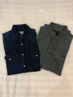 Zara washed denim shirt