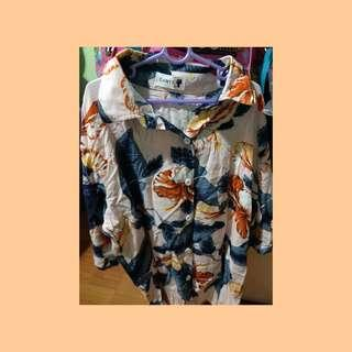 🚚 Pink Tropical Beach Hawaiian Flowy Blouse