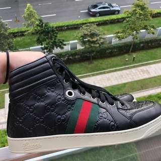 Gucci Ace Black High Top Sneakers
