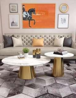 Modern and luxury marble coffee table