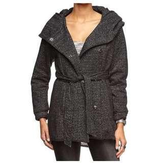 Cotton On Piper Longline Tie Waist Hooded Coat - Size XS