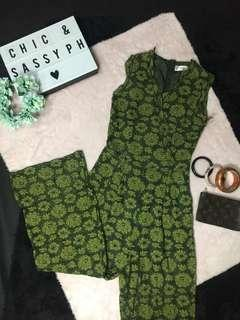 Green Laced Jumpsuit