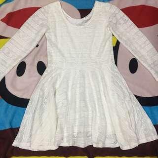White longsleeve dress (repriced)