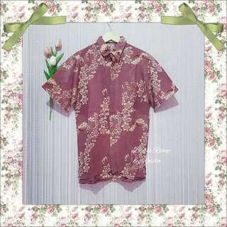Kemeja batik pria pink