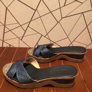 🚚 JIMMY CHOO 楔型涼鞋-38號/5.5cm高