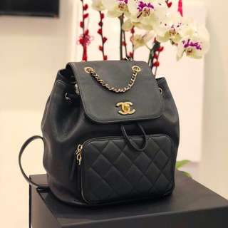 e3229489dfbb Chanel Business Affinity Backpack in Black Caviar GHW