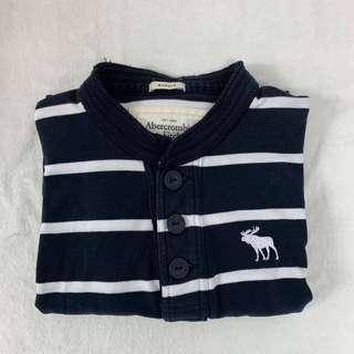 🚚 Abercrombie & Fitch 藍白條紋長袖