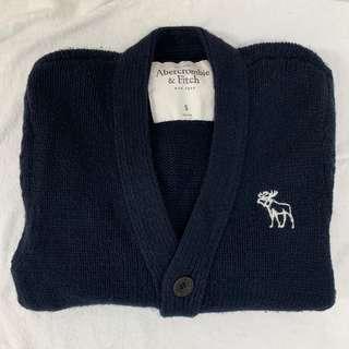 🚚 Abercrombie & Fitch 粗針織外套 罩衫 男