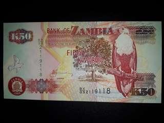 [Africa] Zambia 50 Kwacha Bird Version Old Paper Note (2009 Series)