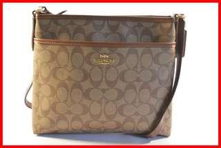 ORIGINAL Coach Khaki/Saddle Signature PVC File Bag Sling Bag Brand New and Complete Inclusion Free Shipping and Express Shipping Nationwide