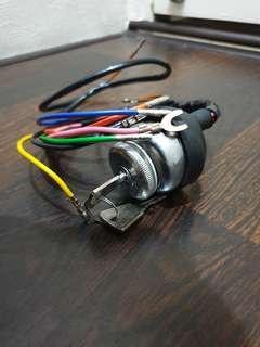 Lambretta Ignition Switch Chrome Body Brass Key 3 Point for GP DL SX Series