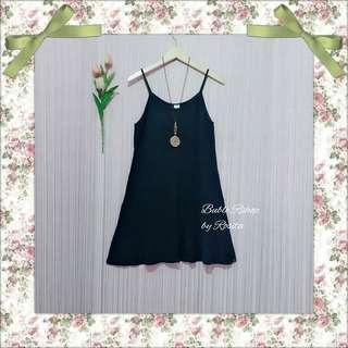 Mini dress rok overal hitam biru navy dongker tanktop dress preloved secons bekas berkualitas