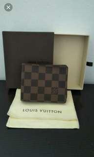 d8a9a26455bf ❤Sale❤❤Authentic Louis Vuitton Wallet N60895 Damier Ebene Canvas Multiple  Wallet❤