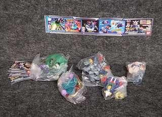 SD Gundam Full Color DX 全五種 日本直送 初版四穴 高達 高達扭蛋